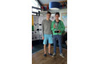 James Rusden and Will Rusden with 2nd place Trophy, Glyn Charles Pursuit Race 2014
