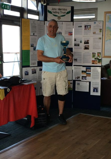 Chris Powles, winner of the Glyn Charles Pursuit Race 2014