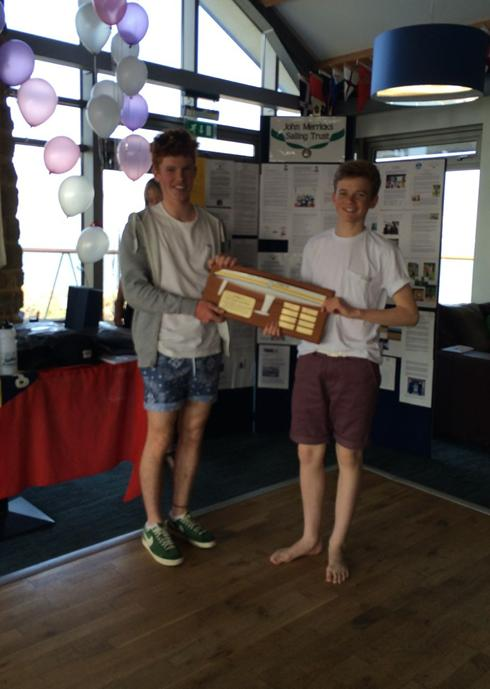 Elliott Wells and Jake Todd, 1st Youth Boat, Glyn Charles Pursuit Race 2014.