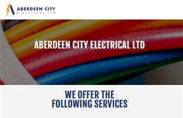 Aberdeen City Electrical - Electrical contractors website design by Toolkit Websites, Southampton