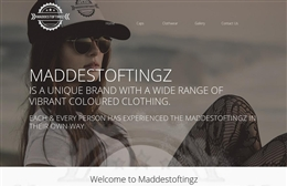 Maddestoftingz - Streetwear website design by Toolkit Websites, Southampton