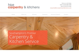 H&E Carpentry - website design by Toolkit Websites, Southampton