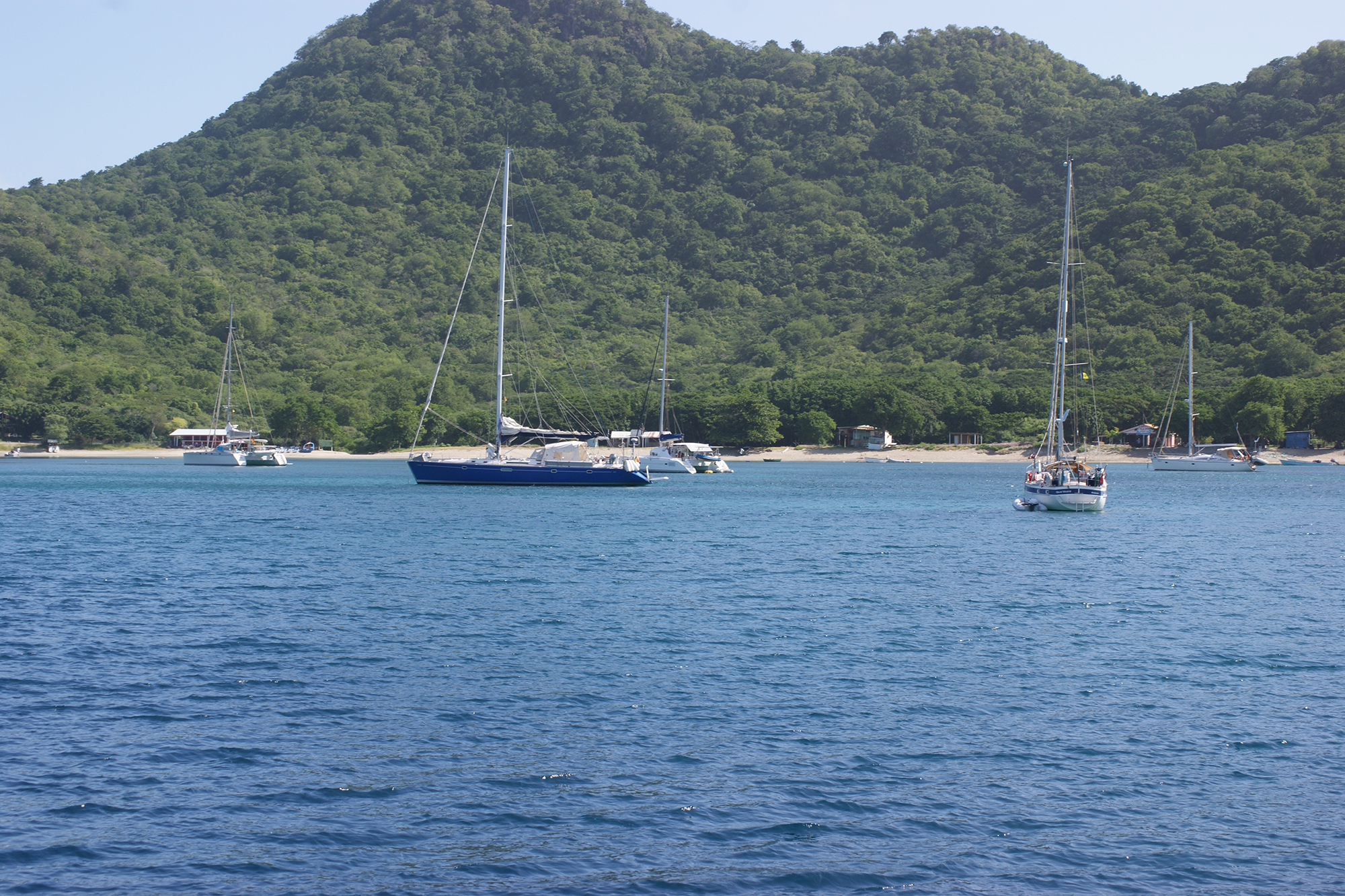 Anchored off St Lucia