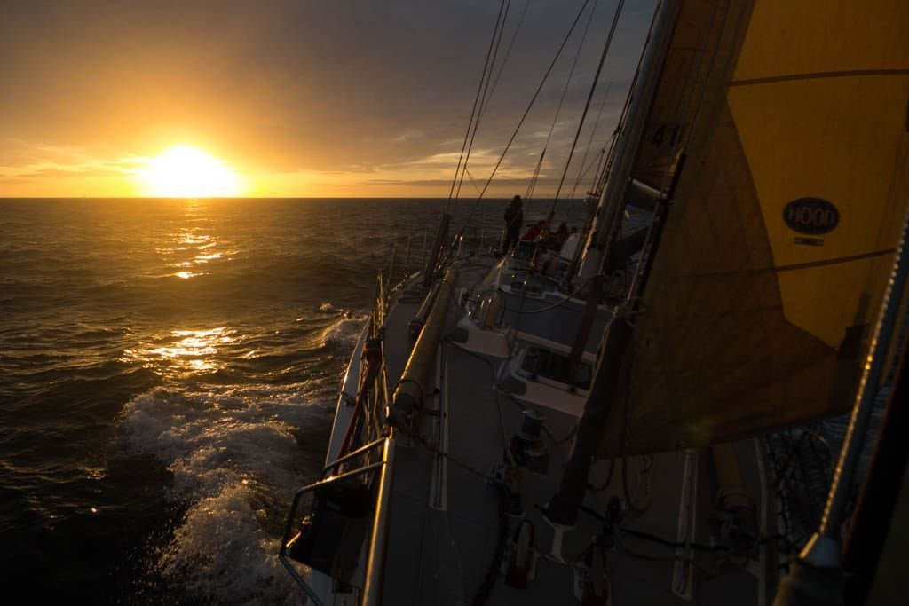Atlantic sailing sunset
