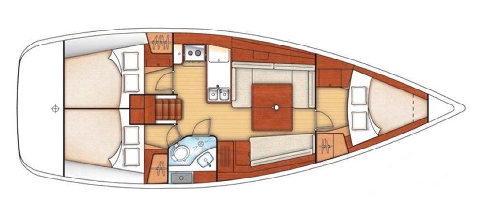 Mischief of Hamble cabin layout