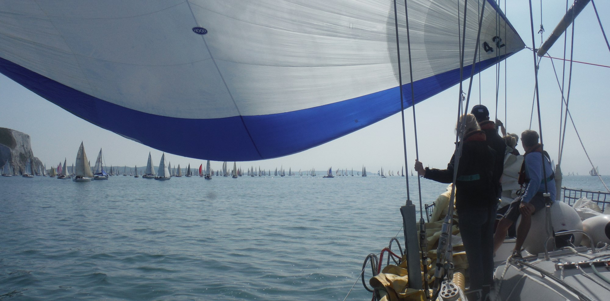 RTIR Sails under the spinnaker