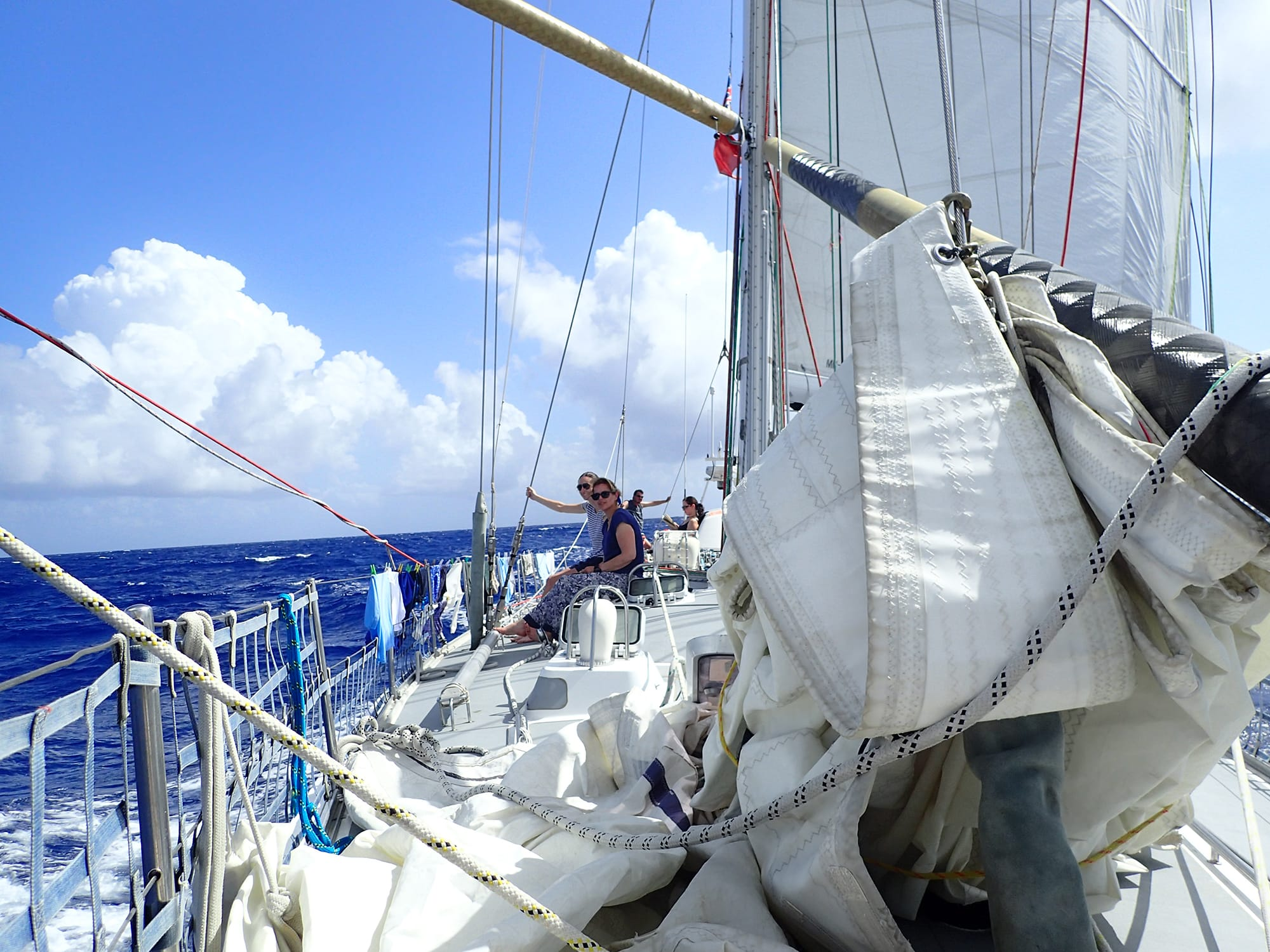 Sailing across Atlantic ARC