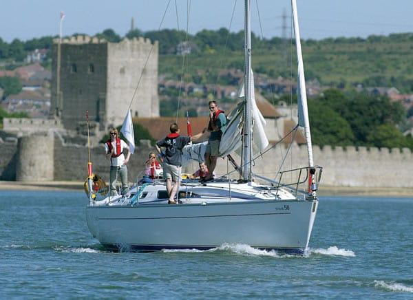 Sailing in Solent