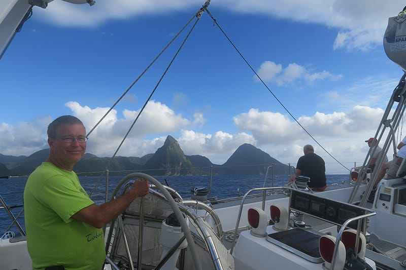 Sailing off St Lucia