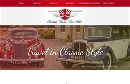 British Classic Car Hire  - Automotive website design by Toolkit Websites, expert web designers