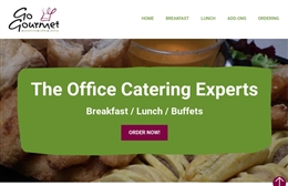 Go Gourmet Catering website design by Toolkit Websites, Southampton
