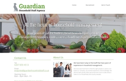 Guardian Household Staff - Recruitment website design by Toolkit Websites, Southampton