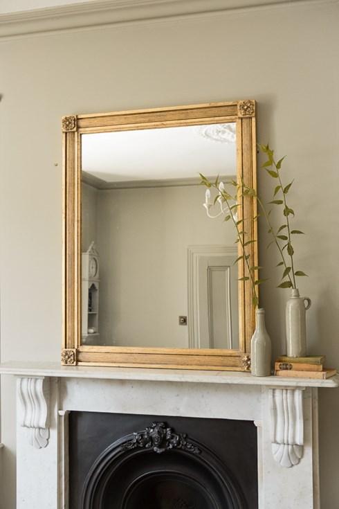Boxed Reed Mirror www.antiquedmirror.com