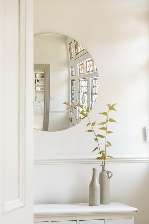 Frameless convex mirror www.antiquedmirror.com