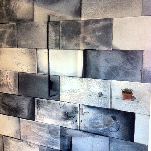 Image Shows Clean Cut Tiles In A Mixture Of Finishes Used As Feature Wall Bathroom 400 Each