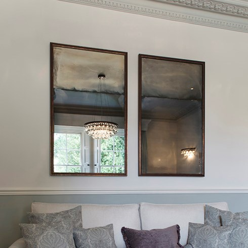 Framed aged mirrors
