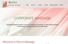 Revive Massage website design case study