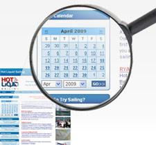 website events calendar