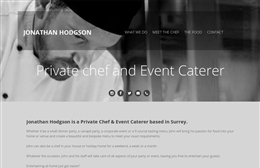 Chef Jonathan Hodgson - Personal chef website design by Toolkit Websites, Southampton