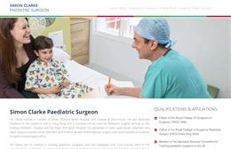 Paedsurg - Surgeon website design by Toolkit Websites, Southampton