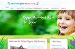 Sticky Fingers - Nursery website design by Toolkit Websites, professional web designers