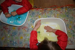 Exploring slime and marbles