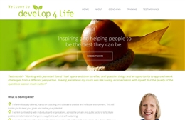 Develop 4 Life - website design by Toolkit Websites, Southampton