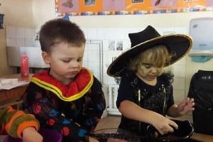 Messy Halloween Play