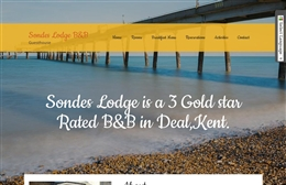 Sondes Lodge - bed and breakfast website design by Toolkit Websites, Southampton