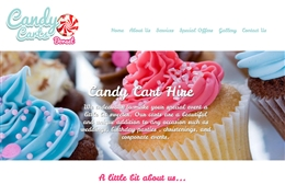 Candy Carts - 1-page website design by Toolkit Websites, Southampton