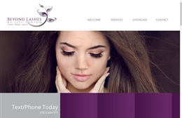 Beyond Lashes - website design by Toolkit Websites, Southampton