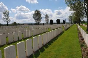 Nine Elms Cemetery near Poperinge