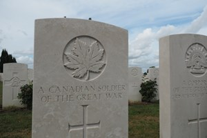 An unknown Canadian soldier