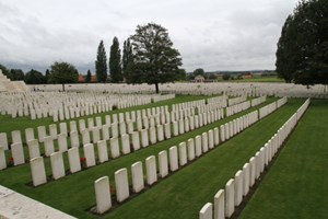 Tyne Cot Cemetery. The largest British and Commonwealth military cemetery in the world