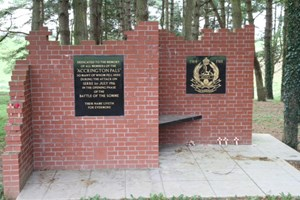 Memorial to the Accrington Pals at the Sheffield Memorial Park