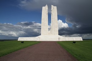 Vimy Ridge Canadian Memorial north of the Somme near Arras