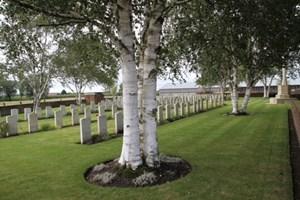 Minty Farm Cemetery near Ypres