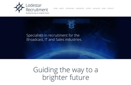 Lodestar - Recruitment website design by Toolkit Websites, Southampton