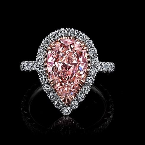 3.93ct Pear Light Pink