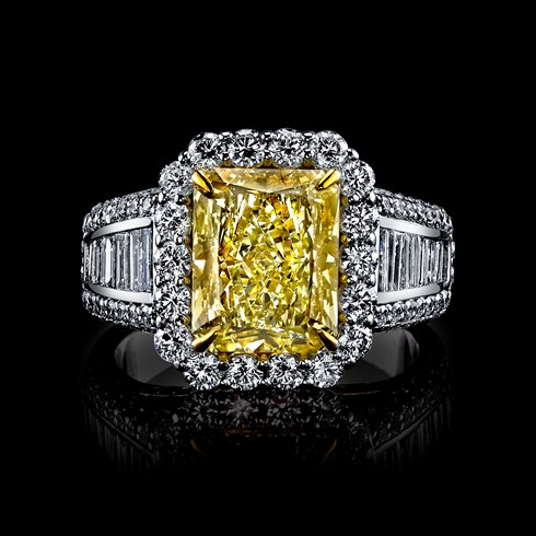 4.25ct Radiant Fancy Yellow