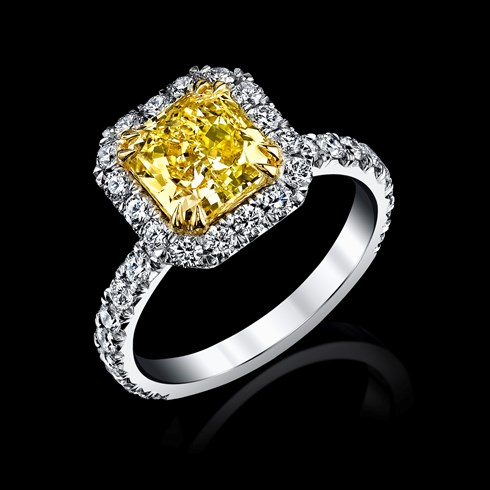 4.39ct Radiant Fancy Yellow
