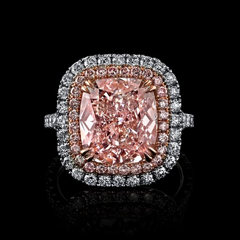 6.34ct Cushion Light Pink