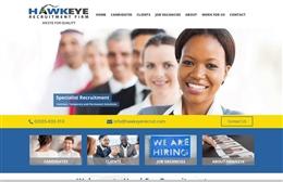 Hawkeye - Recruitment website design by Toolkit Websites, Southampton