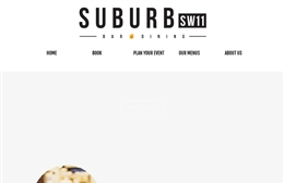 Suburb SW11 - bar and restaurant web design by Toolkit Websites, Southampton