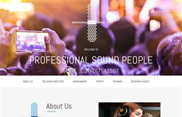 Chef Professional Sound People - 1-page website design by Toolkit Websites, Southampton