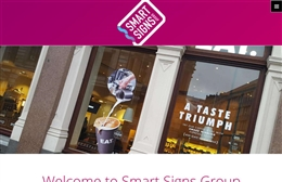 Smart Signs Group - website design by Toolkit Websites, Southampton