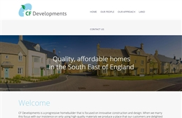 CF Developments - Property web design by Toolkit Websites, Southampton