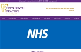 Devs Dental Practice - Dentist website design by Toolkit Websites, professional web designers