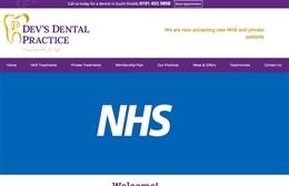 Devs Dental Practice - Dentist website design by Toolkit Websites, Southampton