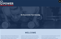 MPower - Personal Trainer website design by Toolkit Websites, Southampton
